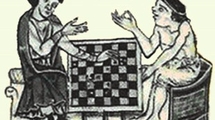 Fouke Fitz Waryn playing chess with the future king John