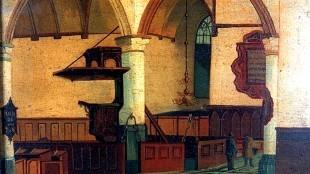 Interieur Noorderkerk Hoorn (bron Westfries Museum)
