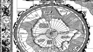 Mercator kaart van de Noordpool