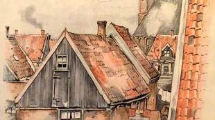 Anton Pieck - Gezicht op Kolhorn