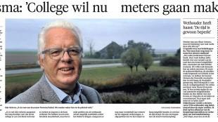 Arie Booy - Haitsma: 'College wil nu meters gaan maken', Helderse Courant, 7 november 2015