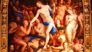 Bronzino - Jezus haalt zijn vrienden uit de hel (in de Refectory of Santa Croce, Florence, Italy)