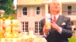 Peer Mascini in Melkunie-commercial