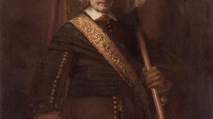 Rembrandt - Vaandeldrager, Portret van Floris Stoop