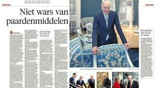 Roel van Leeuwen - Niet wars van paardenmiddelen, Helderse Courant 6 november 2015
