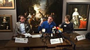 Ad Geerdink, Arthur Brand en Yvonne van Mastrigt (vlnr) tijdens de persconferentie