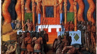 Jean Fouquet - Pompeius in de tempel van Jeruzalem