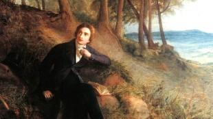 Joseph Severn - Portrait of Keats, listening to a nightingale on Hampstead Heath