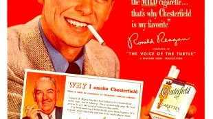 Long before Ronald Reagan was the 40th President of the United States, he was an actor. Like many actors in the '40s & '50s, he endorsed cigarettes