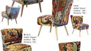 Loven en bieden op Borduur-meubels van Brokaat