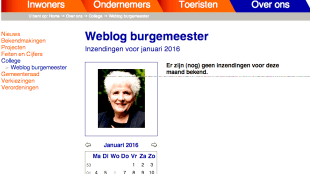 Weblog burgemeester