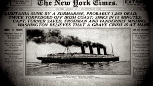 Lusitania sunk by a submarine