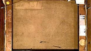 De achterkant van de Matisse, die door Rojos van een nieuwe lijst werd voorzien