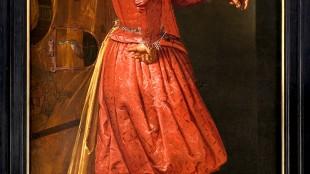 Everard Quirijnsz. Van der Maes - Portret van Willem Jansz. Cock, vaandeldrager van het Oranje Vendel van de Haagse schutterij