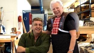 Hendrikje & Rob Scholte in het atelier van Rob (foto Wout Nooitgedagt)