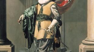 Thomas de Keyser - Portret van Loef Vredericx als vaandeldrager