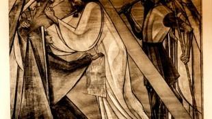 Jan Toorop - 6e Statie: Veronica droogt Jezus aangezicht af