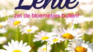 Lente zet de bloemetjes buiten! (foto Biri Publications)