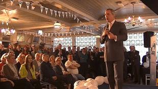 Nigel Farage in Hotel Spaander in Volendam
