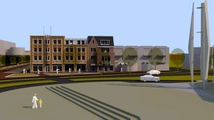 Het nieuwe Wienerhof en buren (foto KJK Architekten)