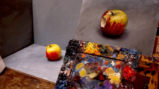How to paint an apple with oil paint