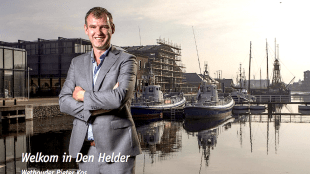 Wethouder Pieter Kos - Welkom in Den Helder (foto Peter van Aalst)