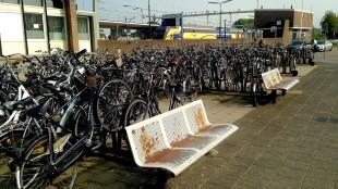 Roest en fietsenchaos in de Boerhaavestraat (foto Lijsje Snijder)