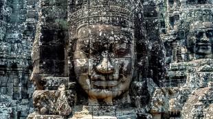 Giant Buddha Face Inside Bayon Temple, Angkor Wat, Cambodia (foto Matteo)