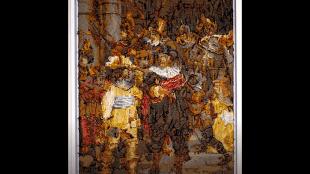 Het schilderij, dat Rob Scholte ter veiling aanbood aan lost-painters
