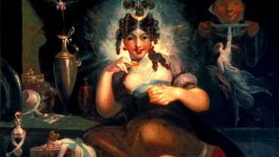 Johann Heinrich Füssli - Fairy Mab (foto Folger Shakespeare Library Washington)