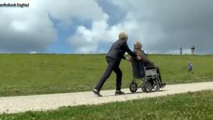 Met de rolstoel in Petten