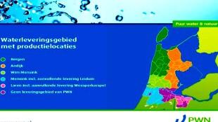 Waterleveringsgebied met productielocaties (foto PWN)