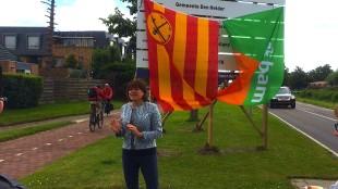 Wethouder Jacqueline van Dongen bij Noorderhaaks (foto Omgevingsmanager BAM/Twitter)