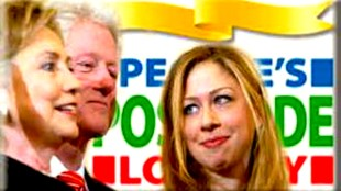 Clinton getting back into the White House via Postcode Lottery?
