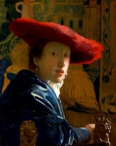 Johannes Vermeer - Meisje met de rode hoed