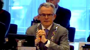 Voorzitter gemeenteraad Den Helder burgemeester K. F. Schuiling