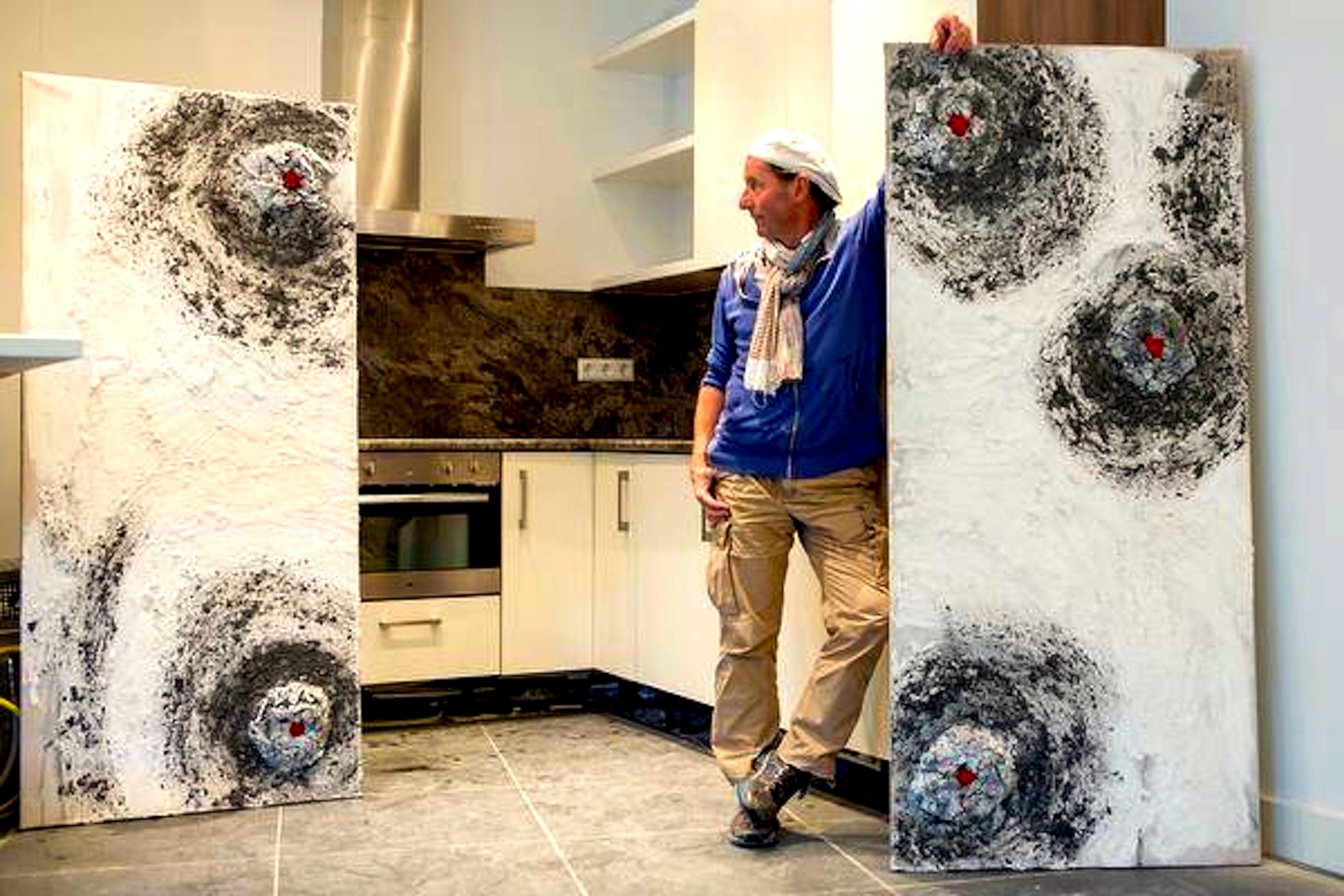 Harold van geerestein met zijn kunst in de keuken foto for Kunst keuken