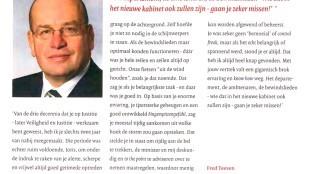 Fred Teeven - Bij het afscheid van Joris Demmink 'Het departement, de ambtenaren, de bewindslieden - wie dat in het nieuwe kabinet ook zullen zijn - gaan je zeker missen!'
