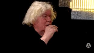 Rudi Fuchs bij Café Weltschmerz