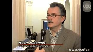 Koen Schuiling wethouder Verkeer en Vervoer in Groningen (foto oogtv.nl)