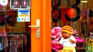 VISA card voor poppenkind (foto De Tevreden Roker)