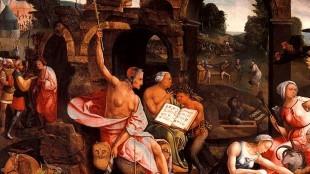 Jacob Cornelisz. van Oostsanen - De heks van Endor