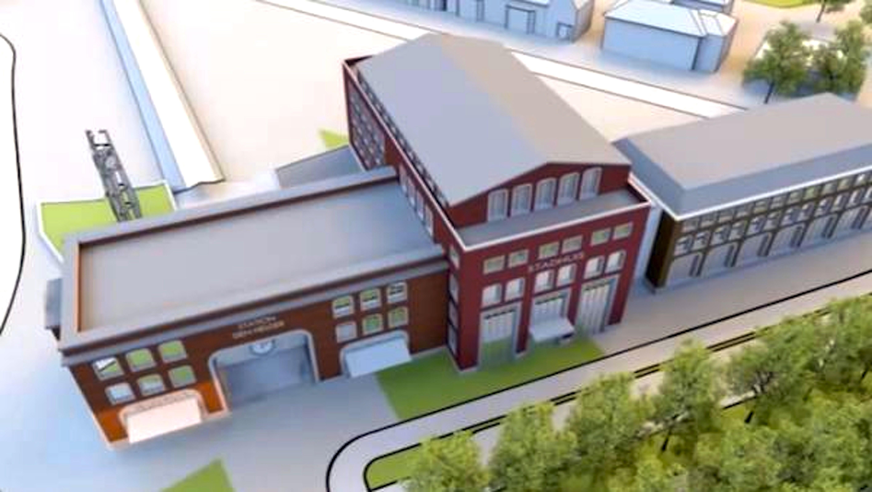 Stadhuis op de stationslocatie Den Helder (foto west8)