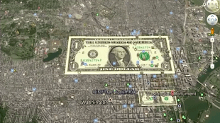 DOLLAR BILL Hidden in Washington DC MAP
