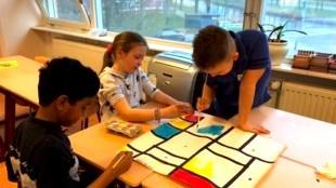 De Dijk doet Mondriaan (foto DHA)
