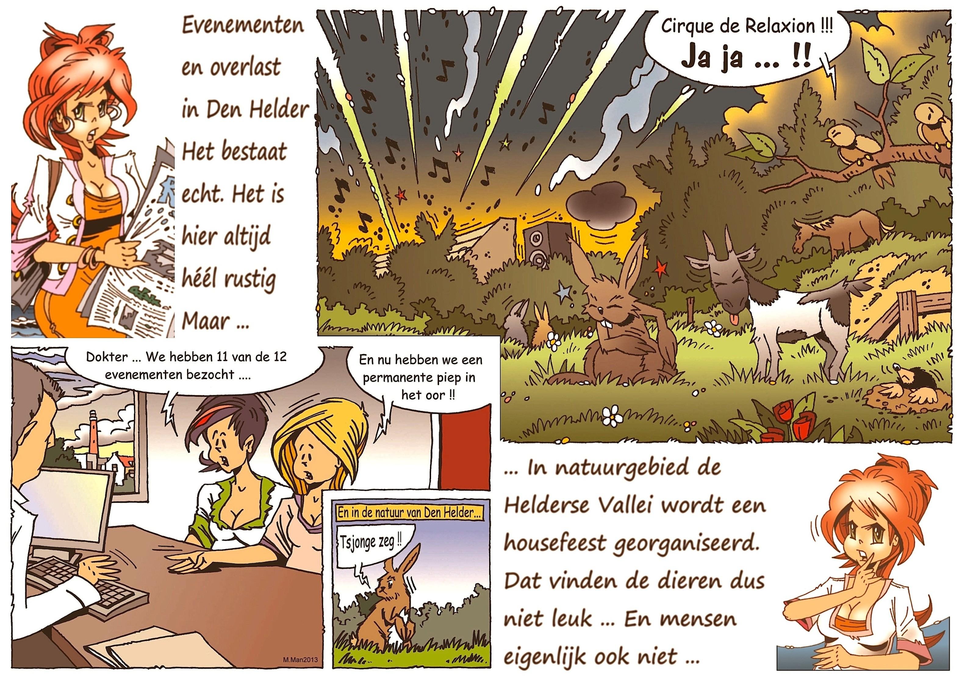 Martin Man – Filo-Sofietje's Helders Weekblad Cartoon-Chronicles (8): Evenementen en overlast in Den Helder
