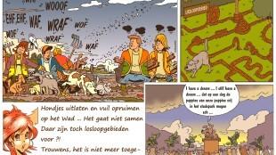 Martin Man – Sofietje's Helders Weekblad Cartoon-Chronicles (10): Hondjes uitlaten en vuil opruimen op het Wad