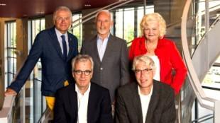 Raadscommissie leningenportefeuille Beverwijk, v.l.n.r. C. Backer Sr. (GemeenteBelangen), H. Vreugdenhil (PvdA, voorzitter), P. Weel (D66), P. van Popta (GroenLinks) & P. Witte (VVD)