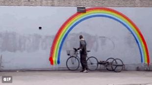 Berkeley Rainbow Artist (foto Twitter)
