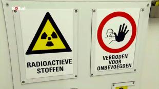 Radioactieve stoofen | Verboden voor onbevoegden (foto NOS)